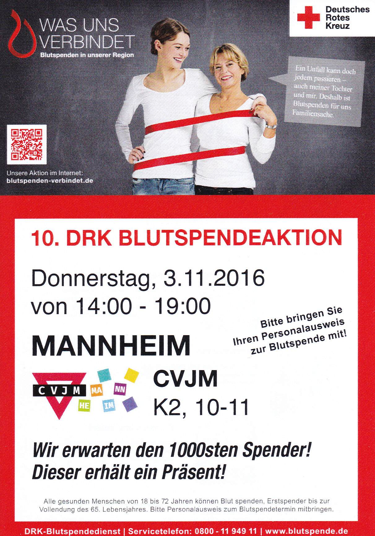 Blutspendeaktion November 2016